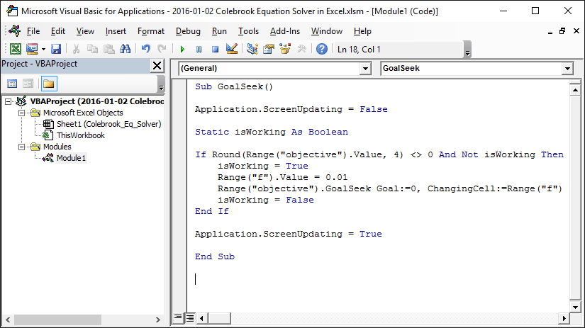 Colebrook Equation Solver in Excel | EngineerExcel