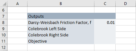 Colebrook equation solver in excel engineerexcel to find a value of f that minimizes the difference between the left and right sides of the colebrook white equation to do that we will calculate the ccuart Choice Image