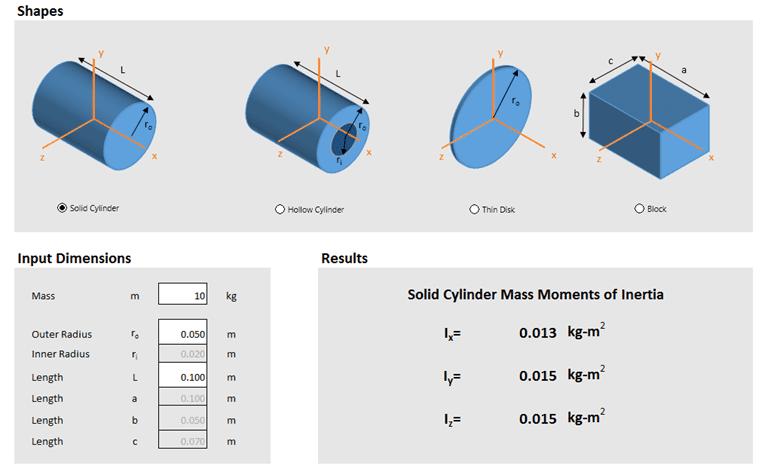 mass moment of inertia pdf