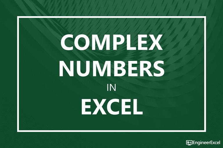 Complex Numbers In Excel Engineerexcel