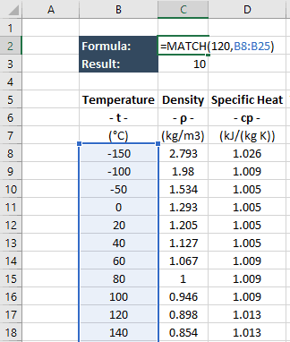 exact match formula in excel