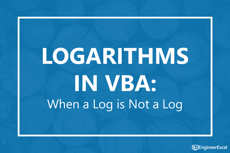 Logarithms In Vba When A Log Is Not Engineerexcel. I Ran Across One Of Those Situations Just The Other Day When Was Working On A Project That Involved Logarithms In Vba. Worksheet. Application Worksheetfunction Find At Mspartners.co