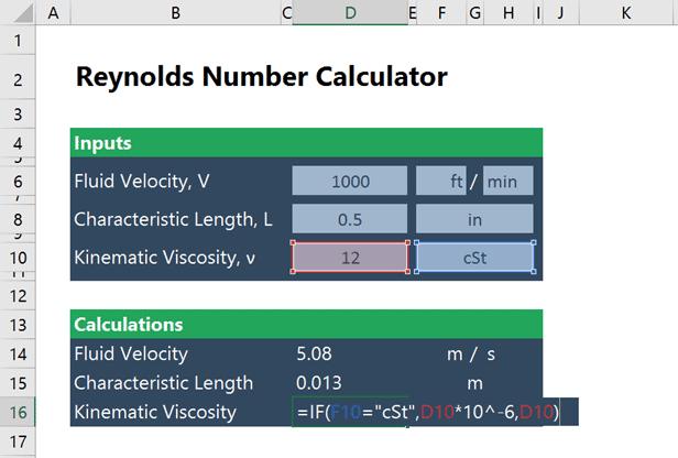 Reynolds Number Calculator in Excel | EngineerExcel