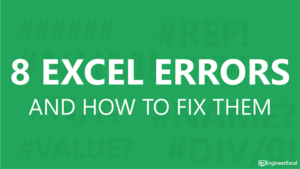8 Excel Errors and How to Fix Them