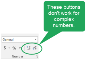 Complex Number Formatting in Excel