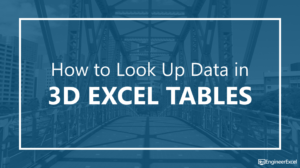 How to Look Up Data in 3D Excel Tables
