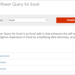 Installing the Power Query Add In for Excel 2010/2013