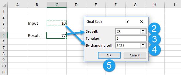 Numerical Iteration In Excel With Goal Seek Engineerexcel. Goal Seek Iterates The Input To Achieve Target. Worksheet. Worksheet Goalseek Vba At Clickcart.co