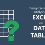 Design Sensitivity Analysis in Excel with Data Tables
