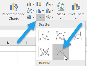 Create a vector plot in excel engineerexcel each vector will be represented by a data series to start populating the chart i right clicked on it and chose select data from the menu ccuart Images