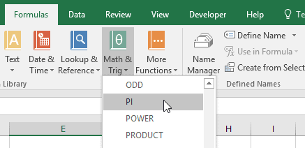 Pi in Excel | EngineerExcel